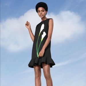 Victoria Beckham Black Tulip Dress